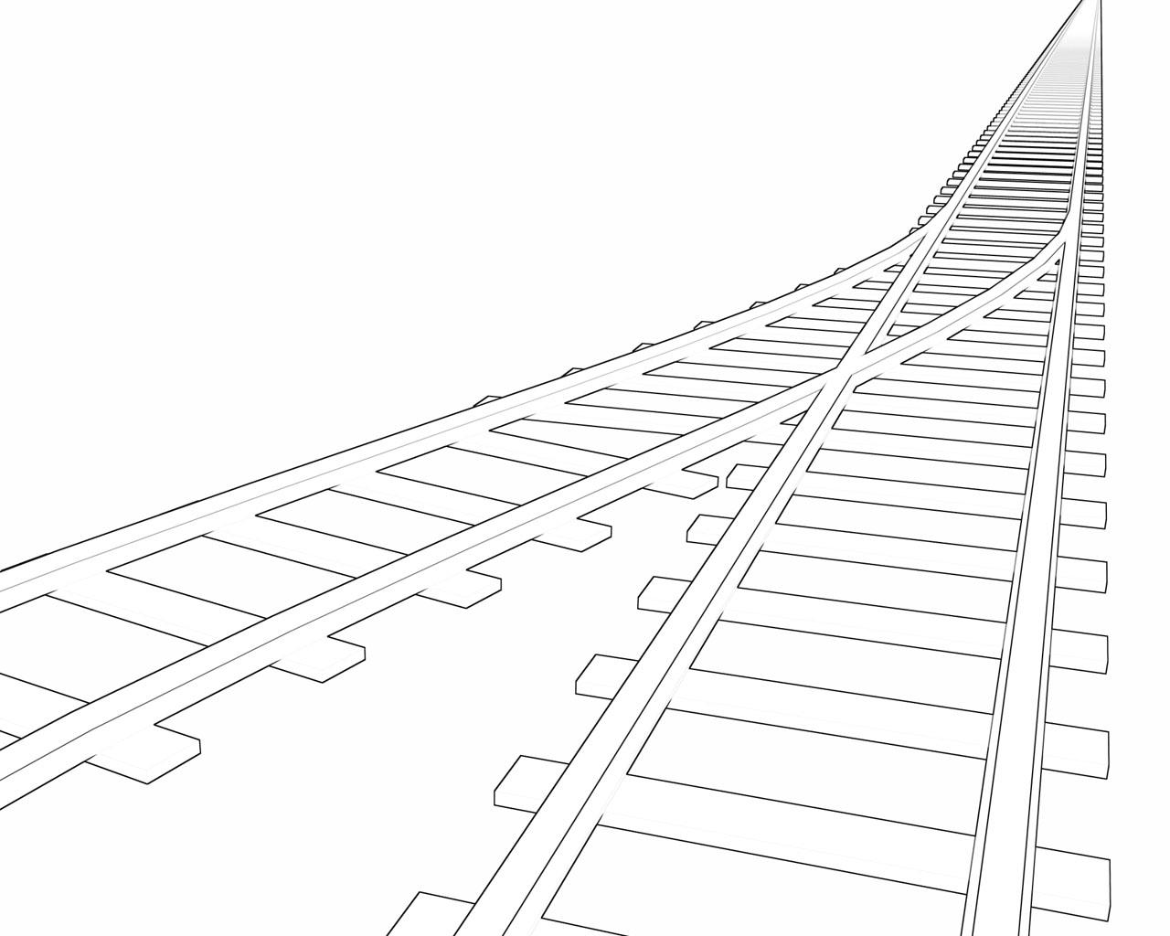 Railroad Track Drawing At Getdrawings