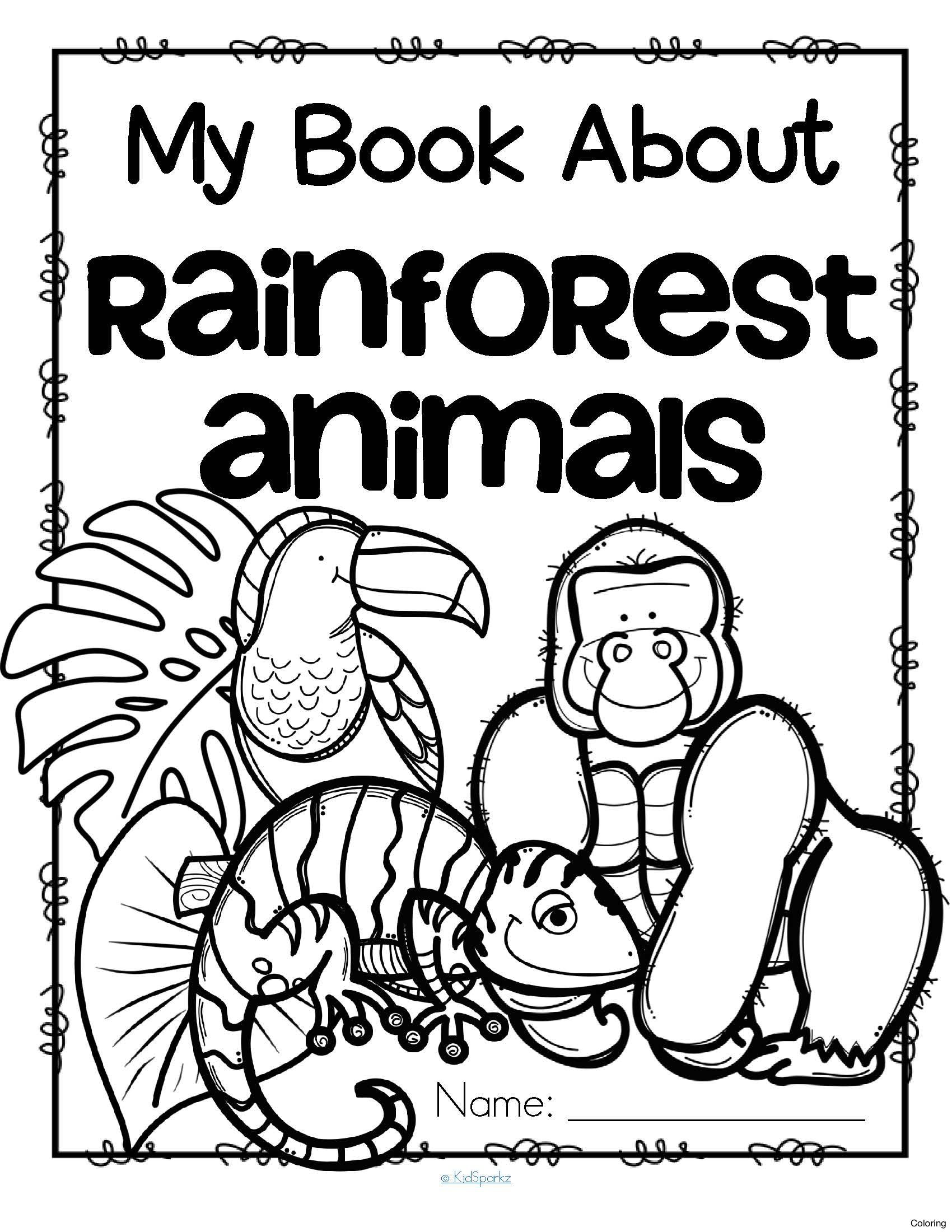 Rainforest Drawing For Kids At Getdrawings