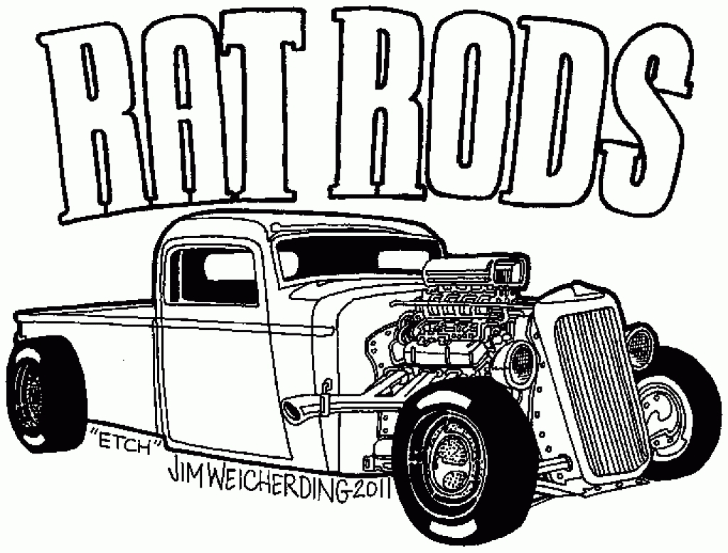 Rat Rod Drawing At Getdrawings