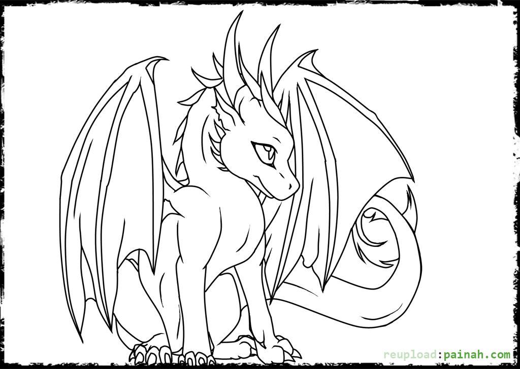 Cute Cute Baby Dragon Coloring Pages Cute Realistic Dragon Drawing Novocom Top