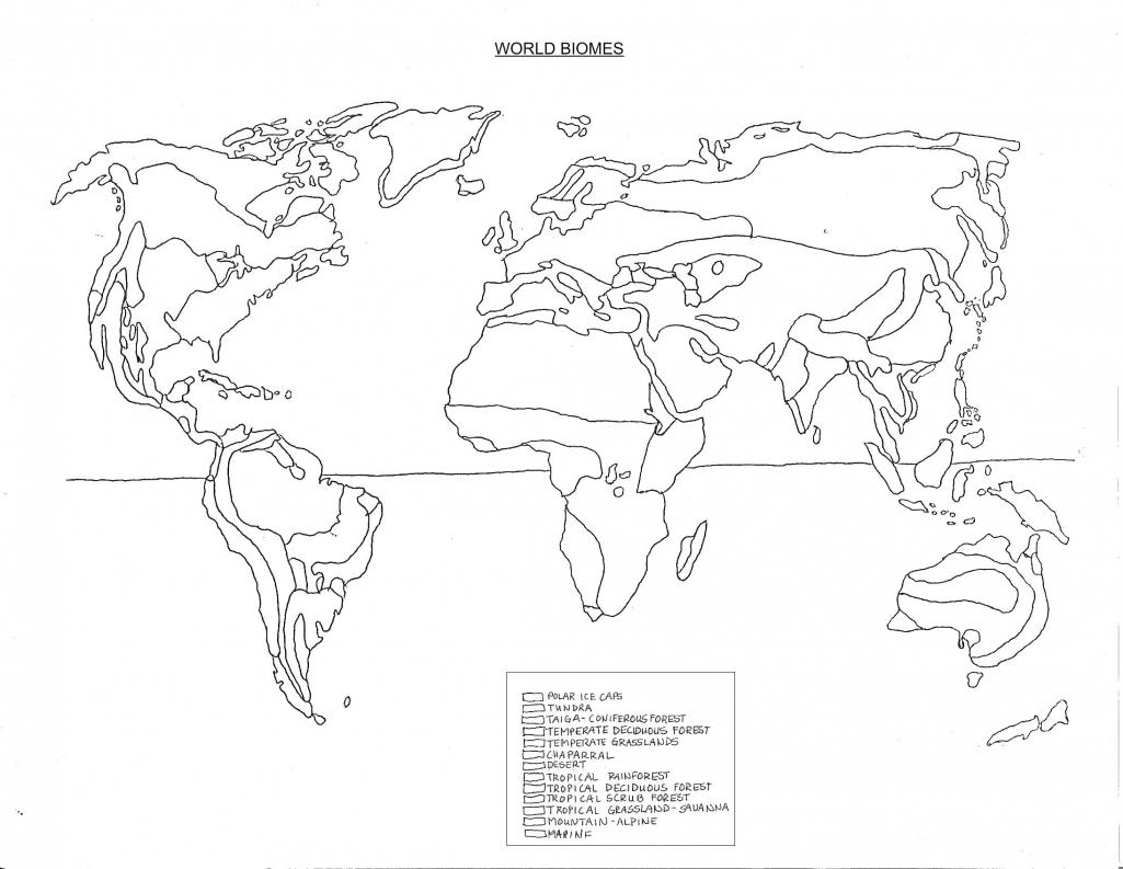 North American Biomes Coloring Worksheet