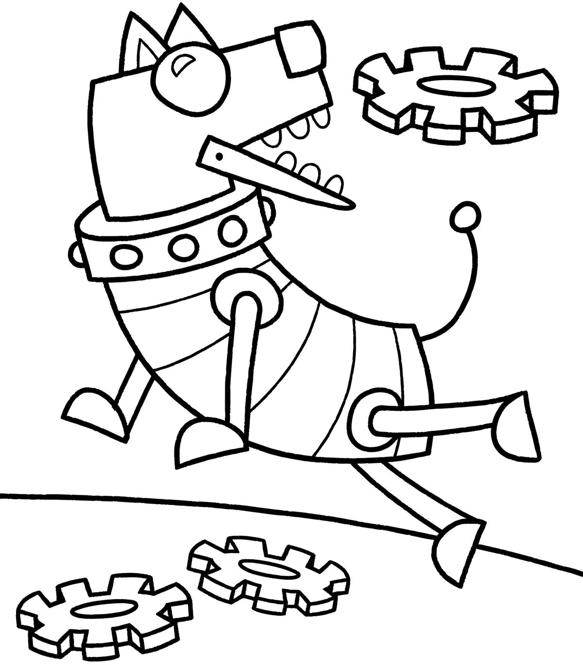 Robot Dog Drawing At Getdrawings