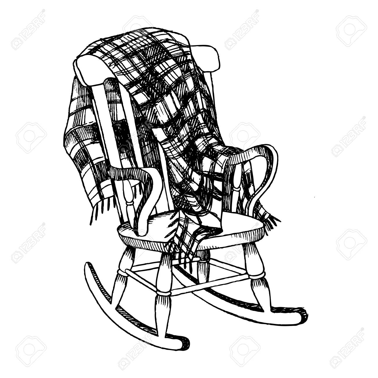 Rocking Chair Drawing At Getdrawings