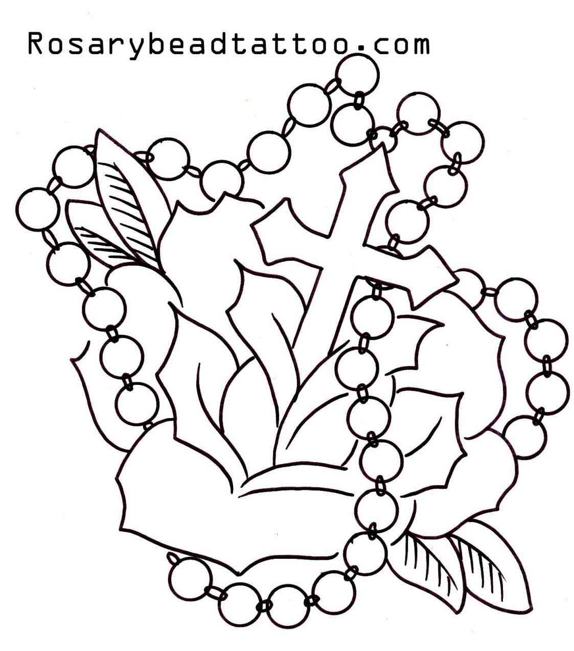 Rosary bead drawing