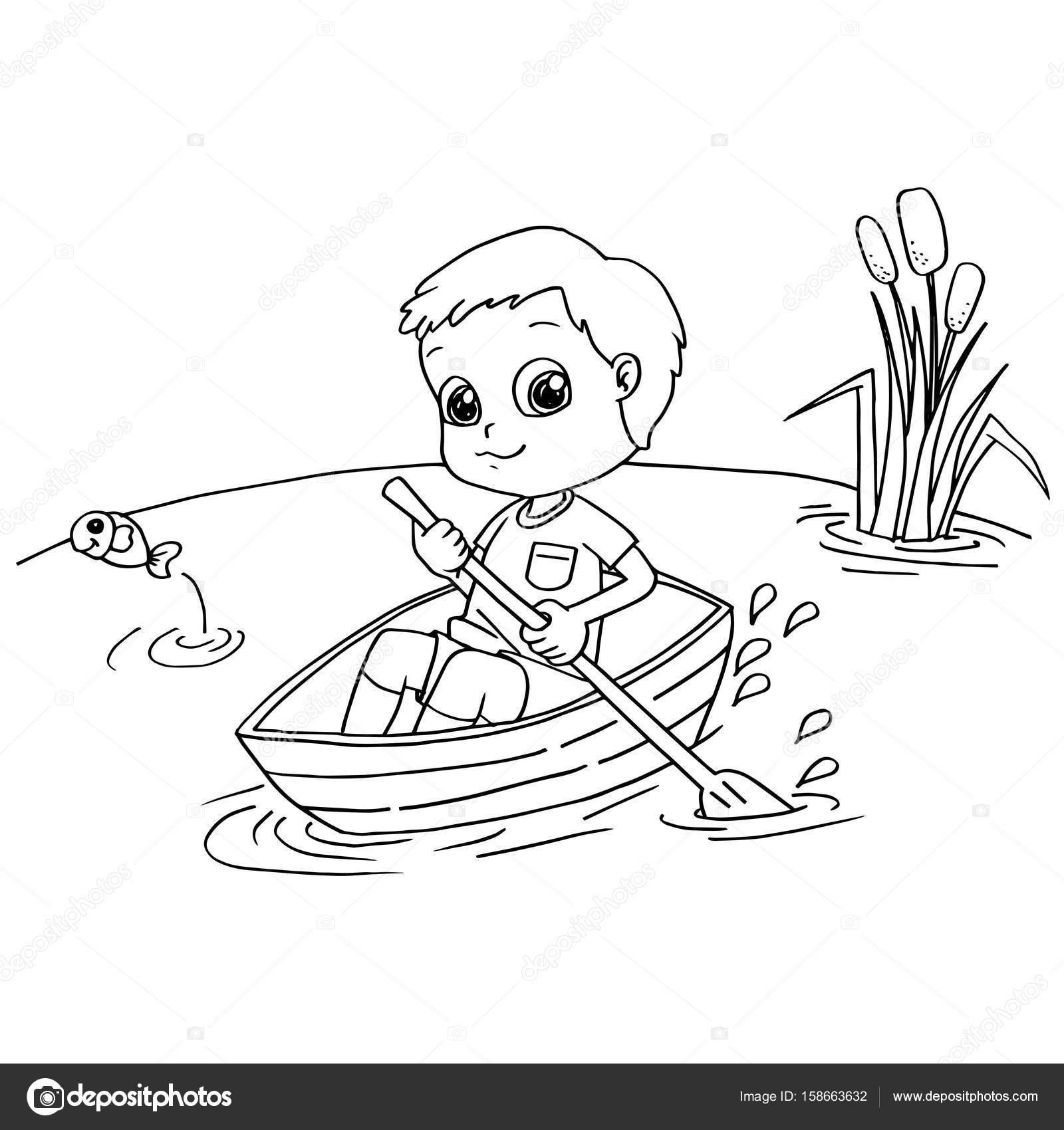 Rowing Boat Drawing At Getdrawings