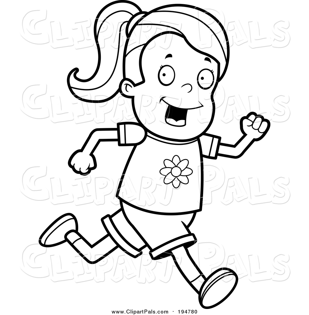 Running Girl Drawing At Getdrawings