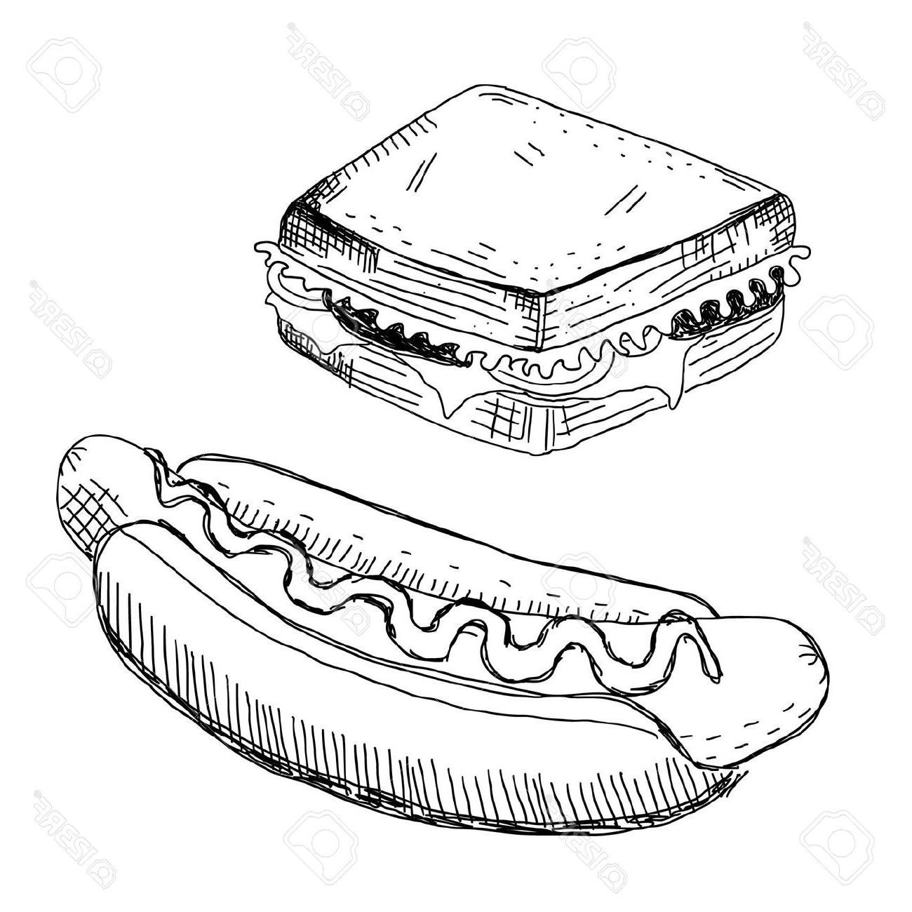 Sandwich Drawing At Getdrawings