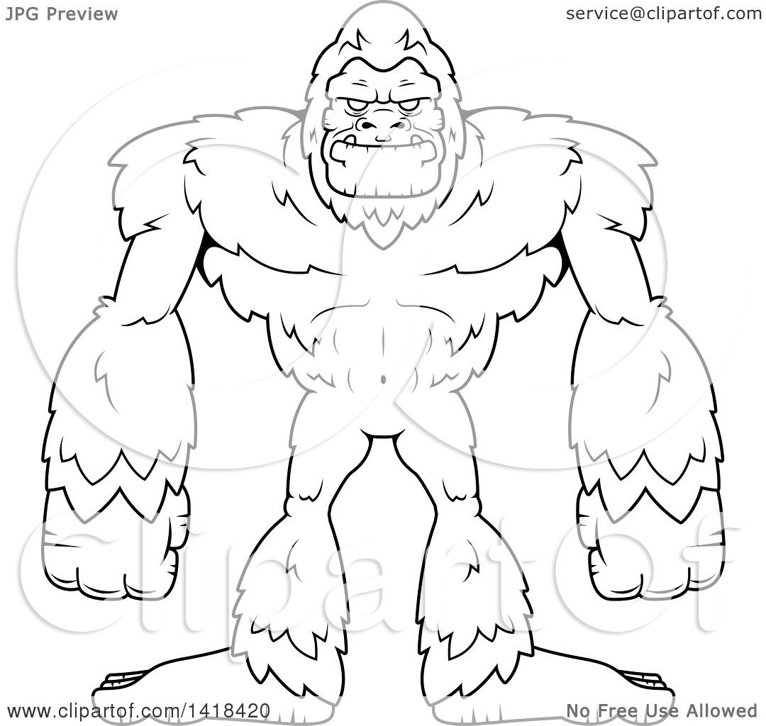 The Best Free Bigfoot Drawing Images Download From 133