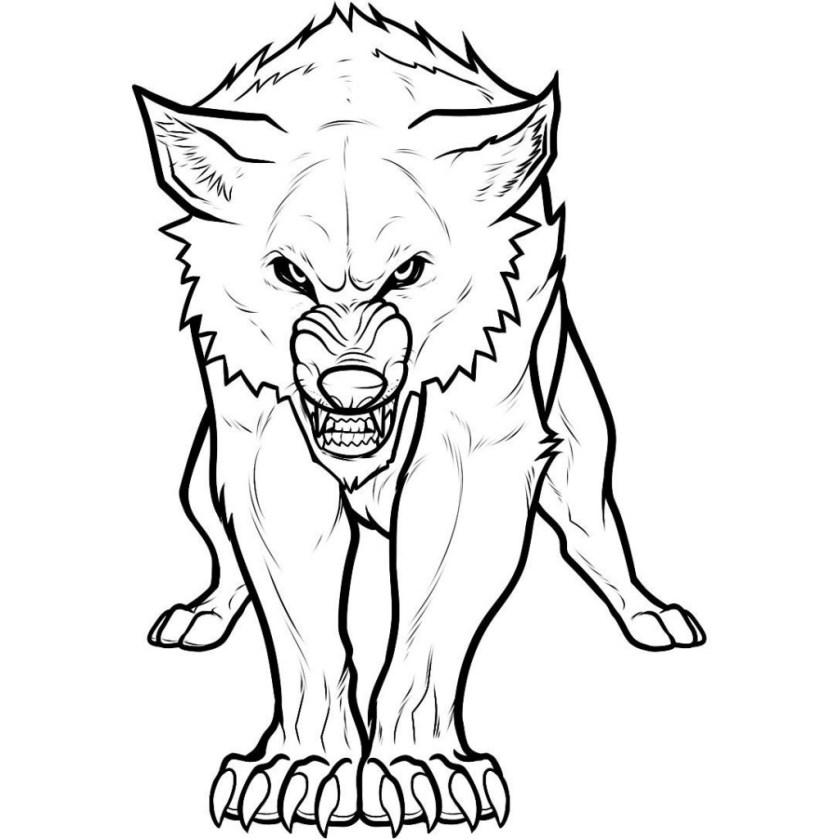 scary wolf drawing at getdrawings  free download
