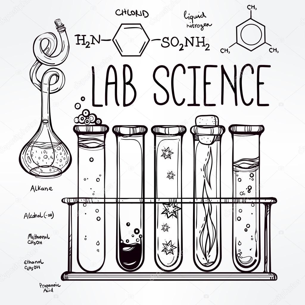 Science Equipment Drawing At Getdrawings