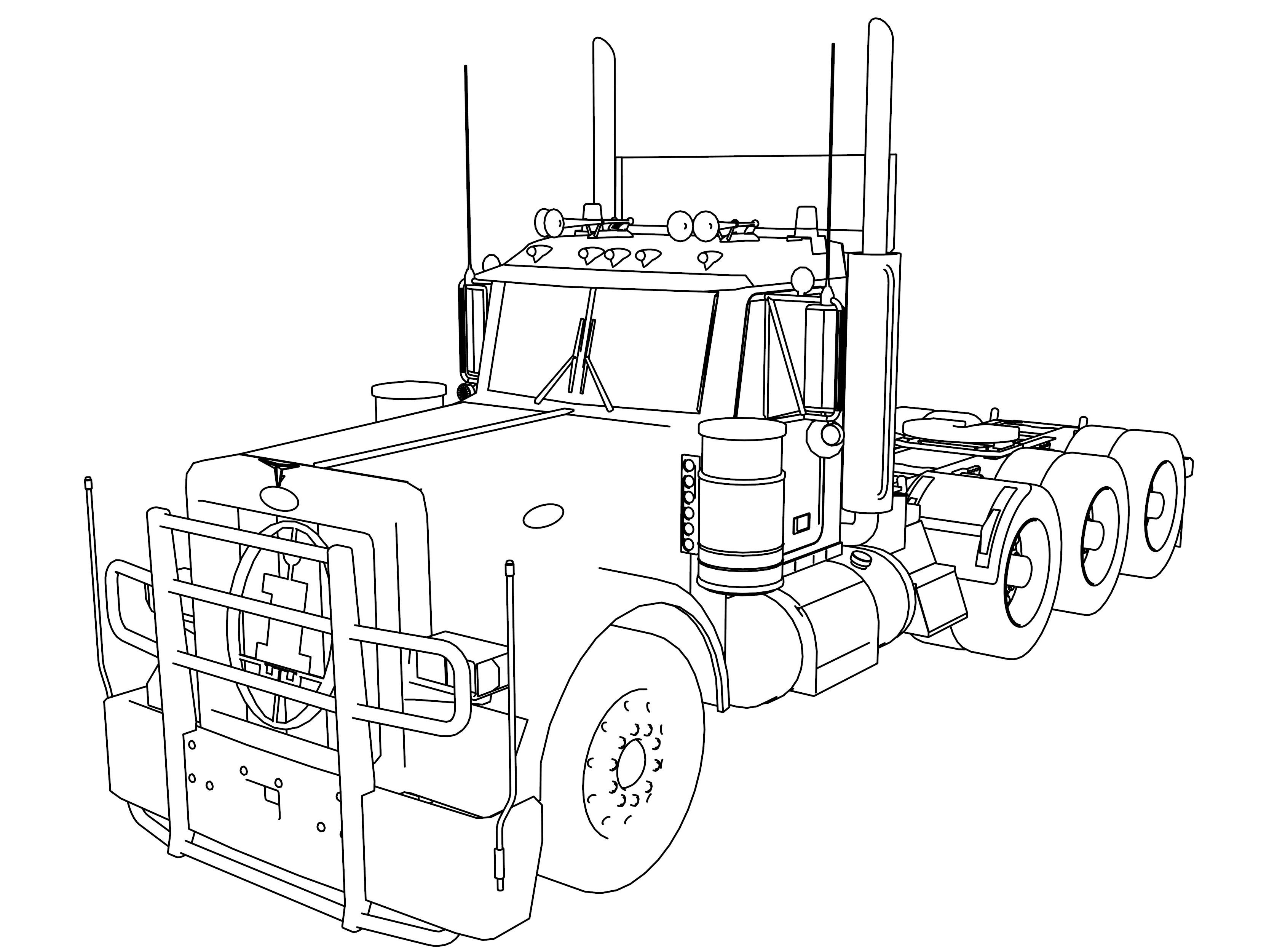 Semi Trucks Drawing At Getdrawings