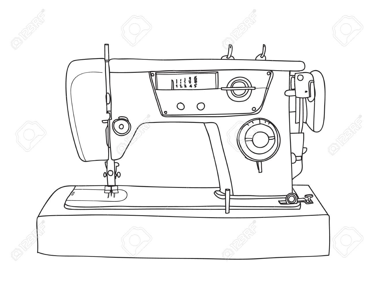 Sewing Machine Drawing At Getdrawings