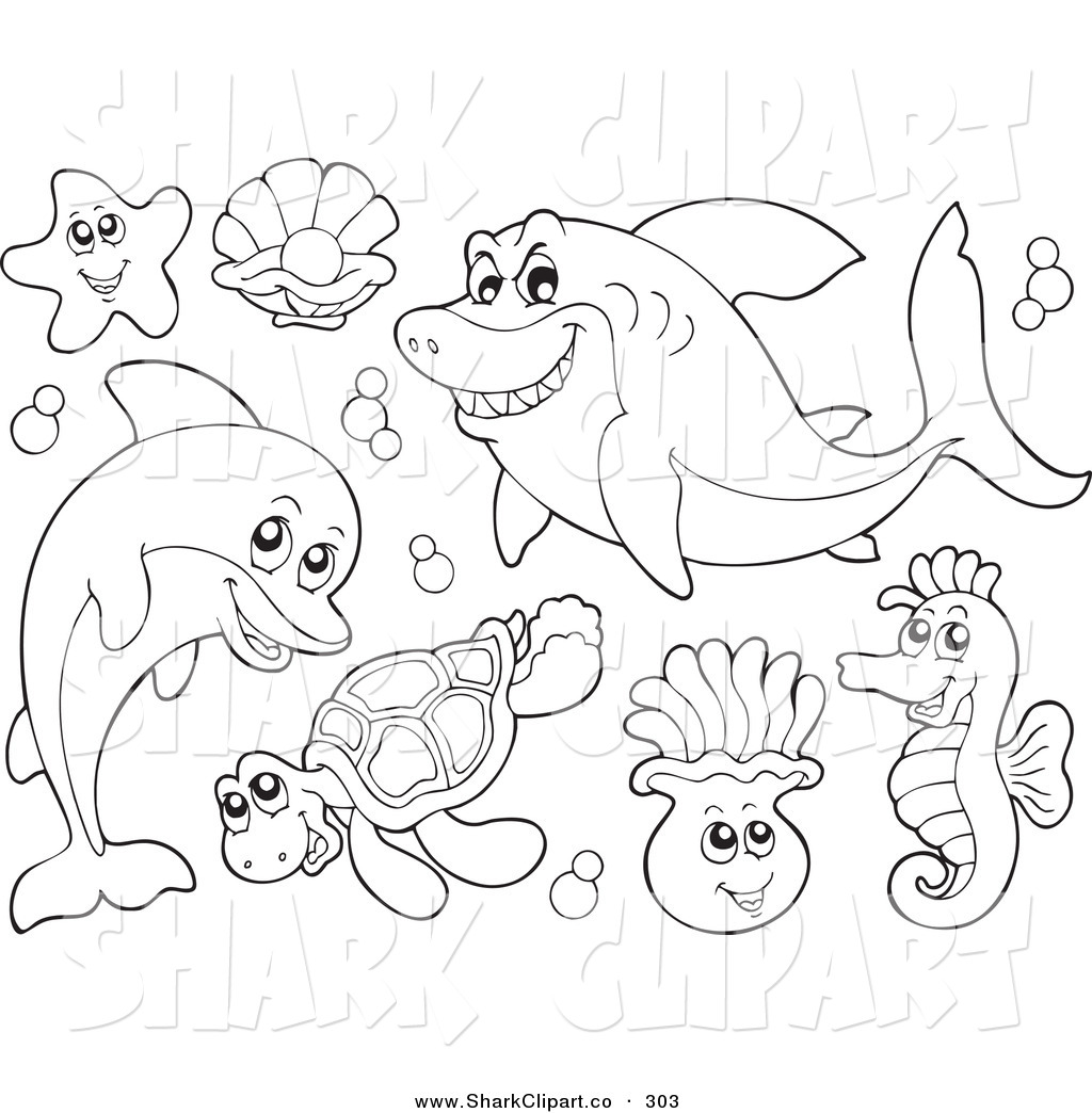 Shark Outline Drawing At Getdrawings