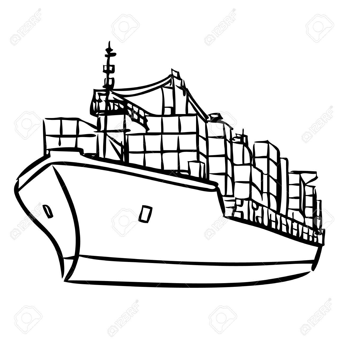 Ship Outline Drawing At Getdrawings