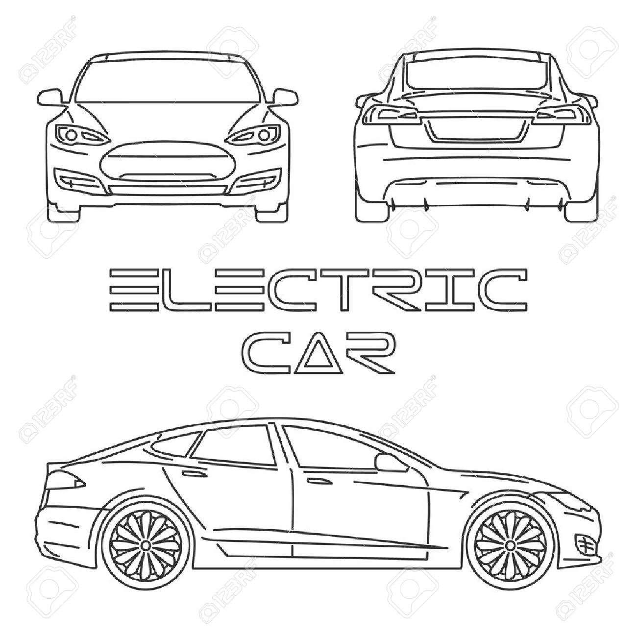 Side View Of Car Drawing At Getdrawings