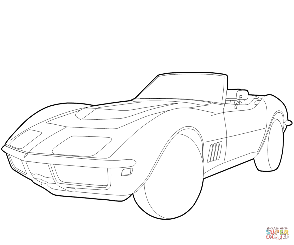 1236x1032 chevrolet corvette coloring page free printable coloring pages