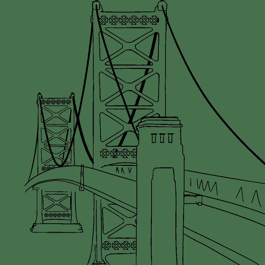 Simple Bridge Drawing At Getdrawings