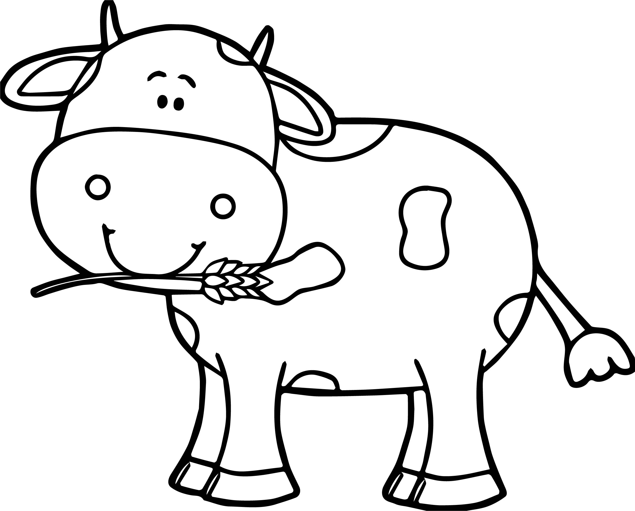 Simple Cow Drawing At Getdrawings