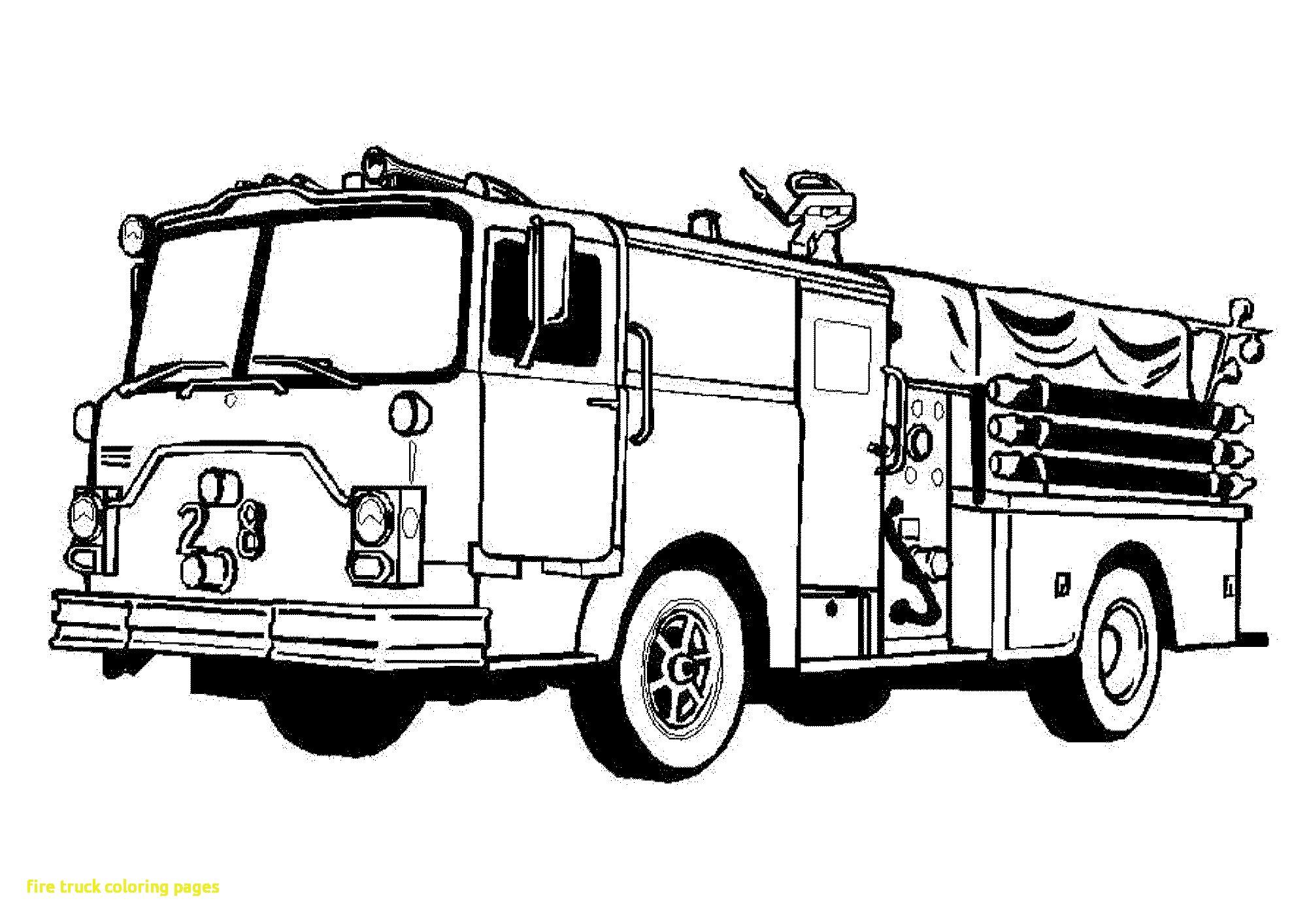 cartoon fire truck engine