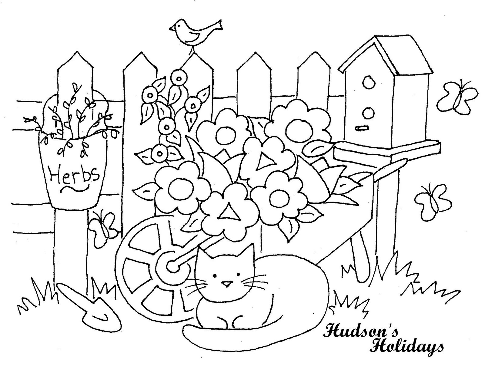 Simple Garden Drawing At Getdrawings