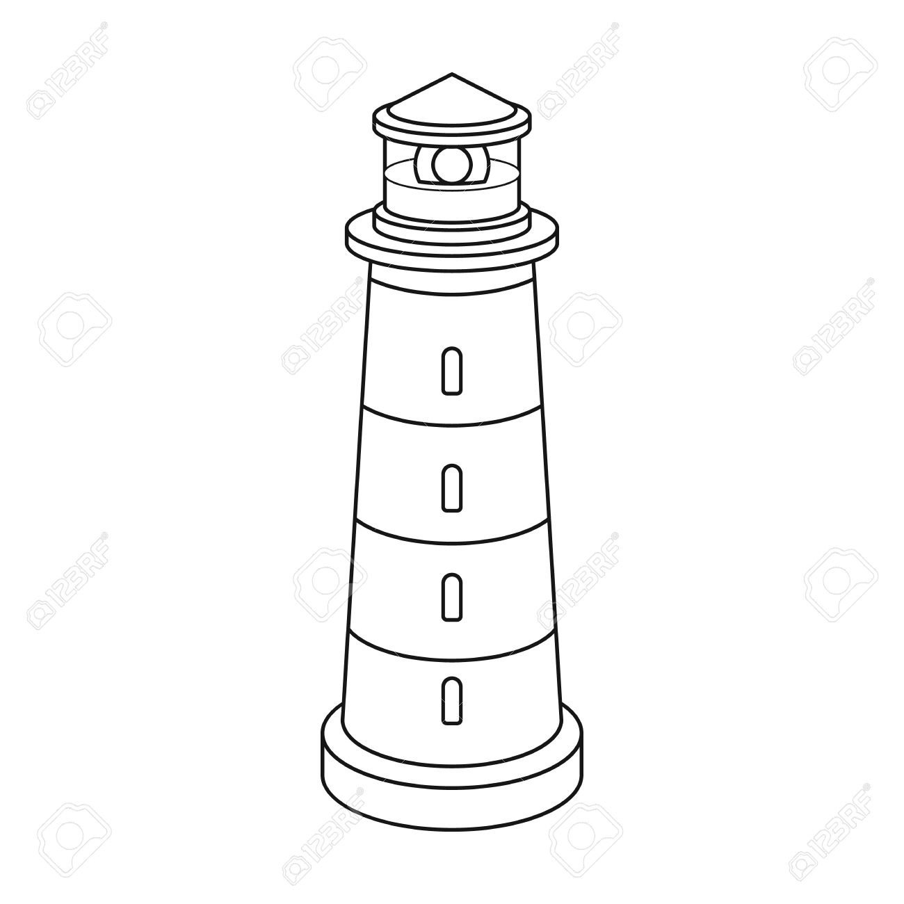 Simple Lighthouse Drawing At Getdrawings