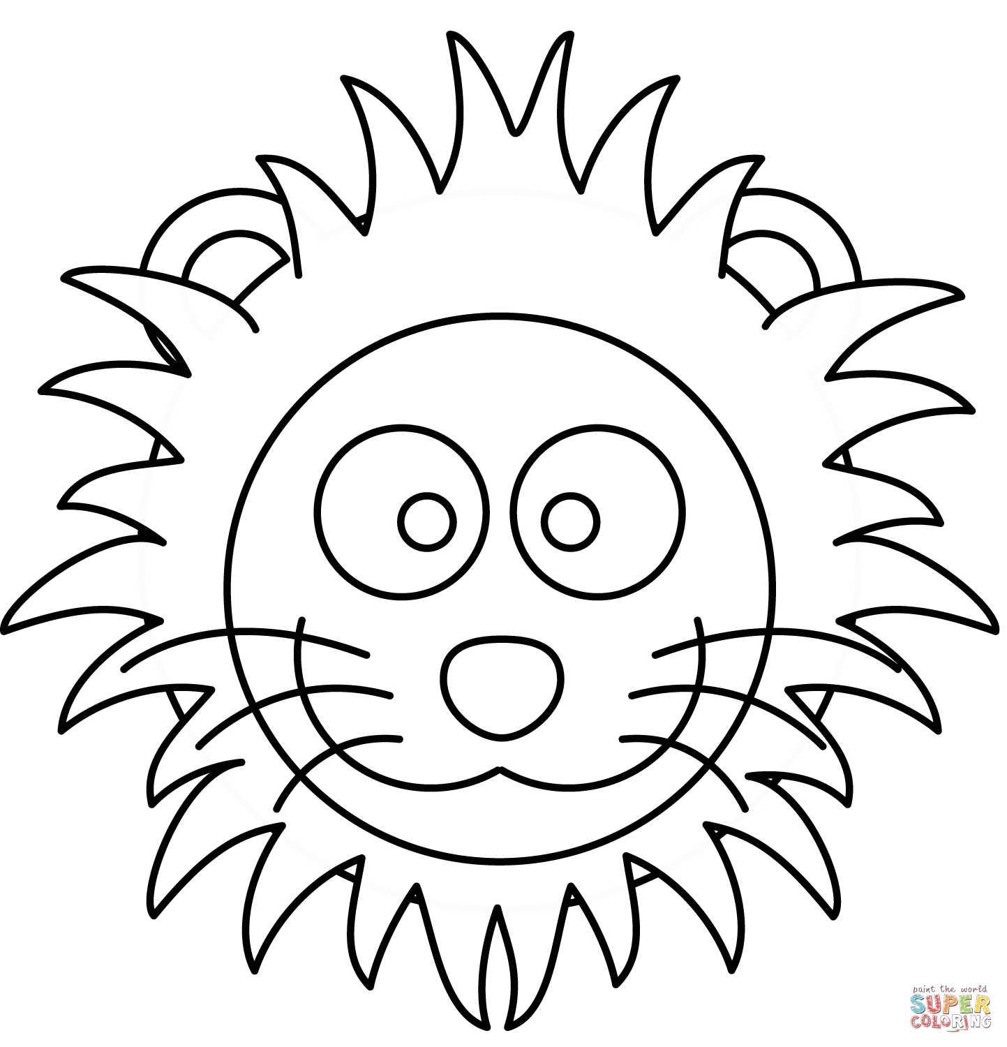 Simple Lion Face Drawing At Getdrawings