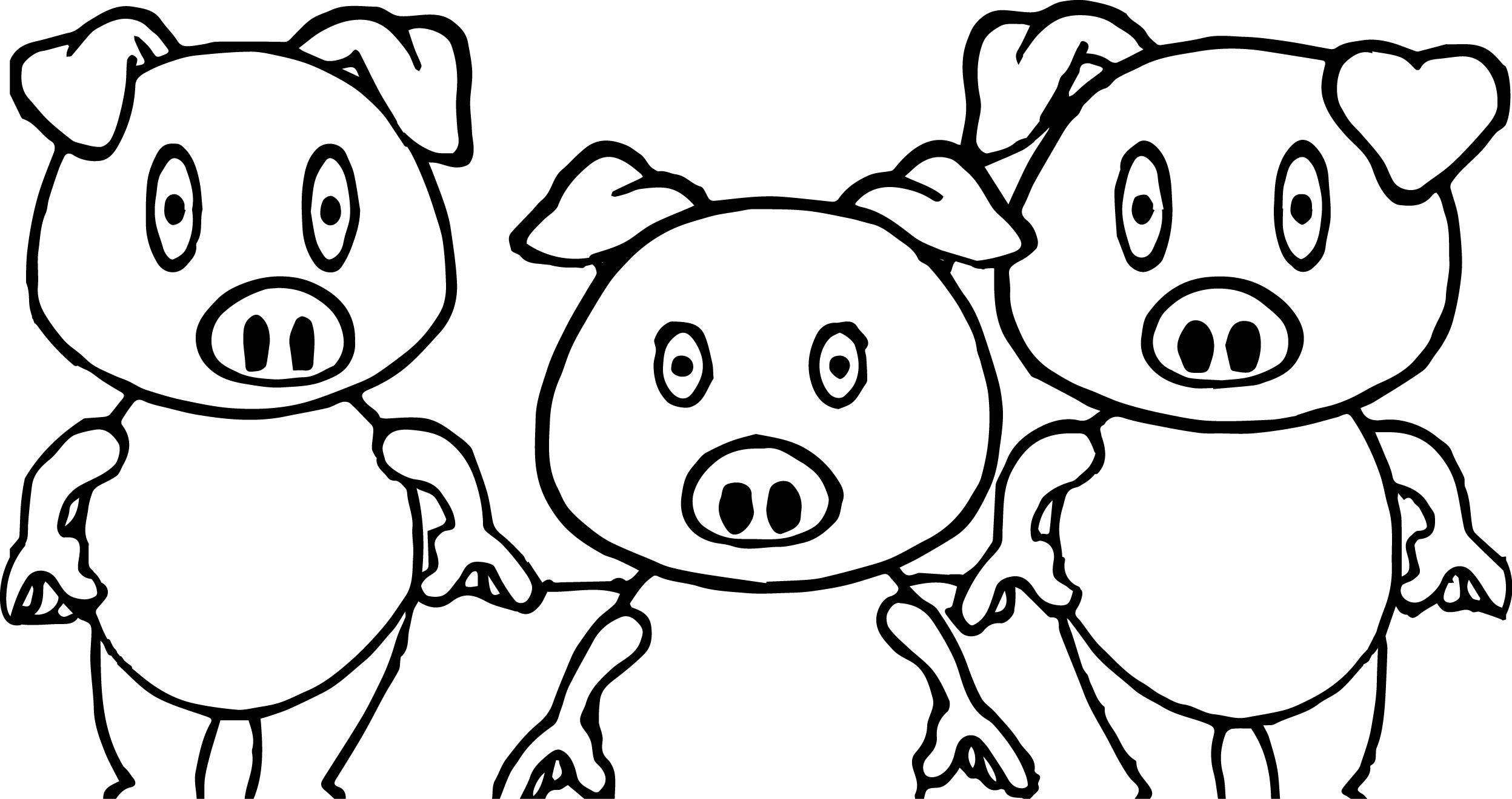 Simple Pig Drawing At Getdrawings
