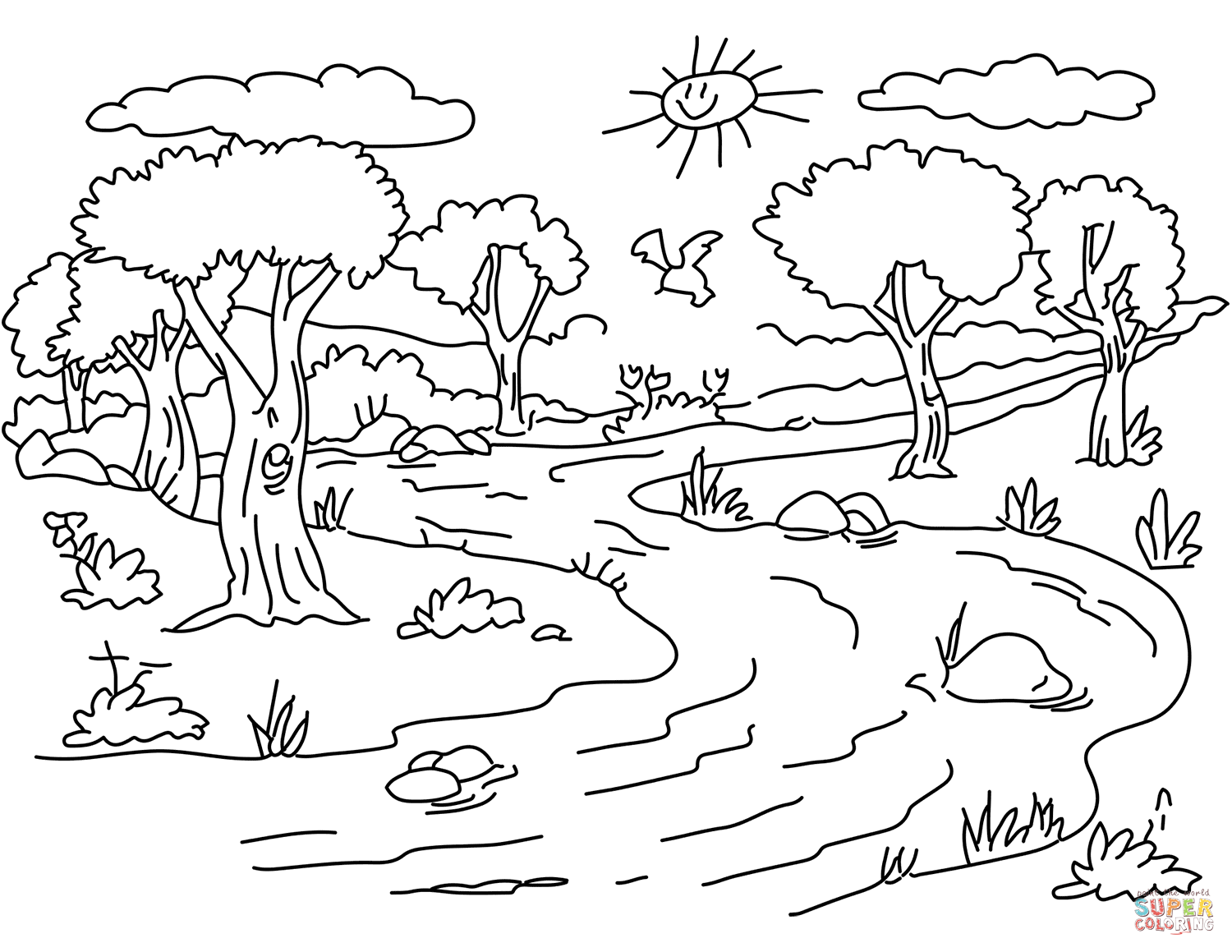 Simple River Drawing At Getdrawings