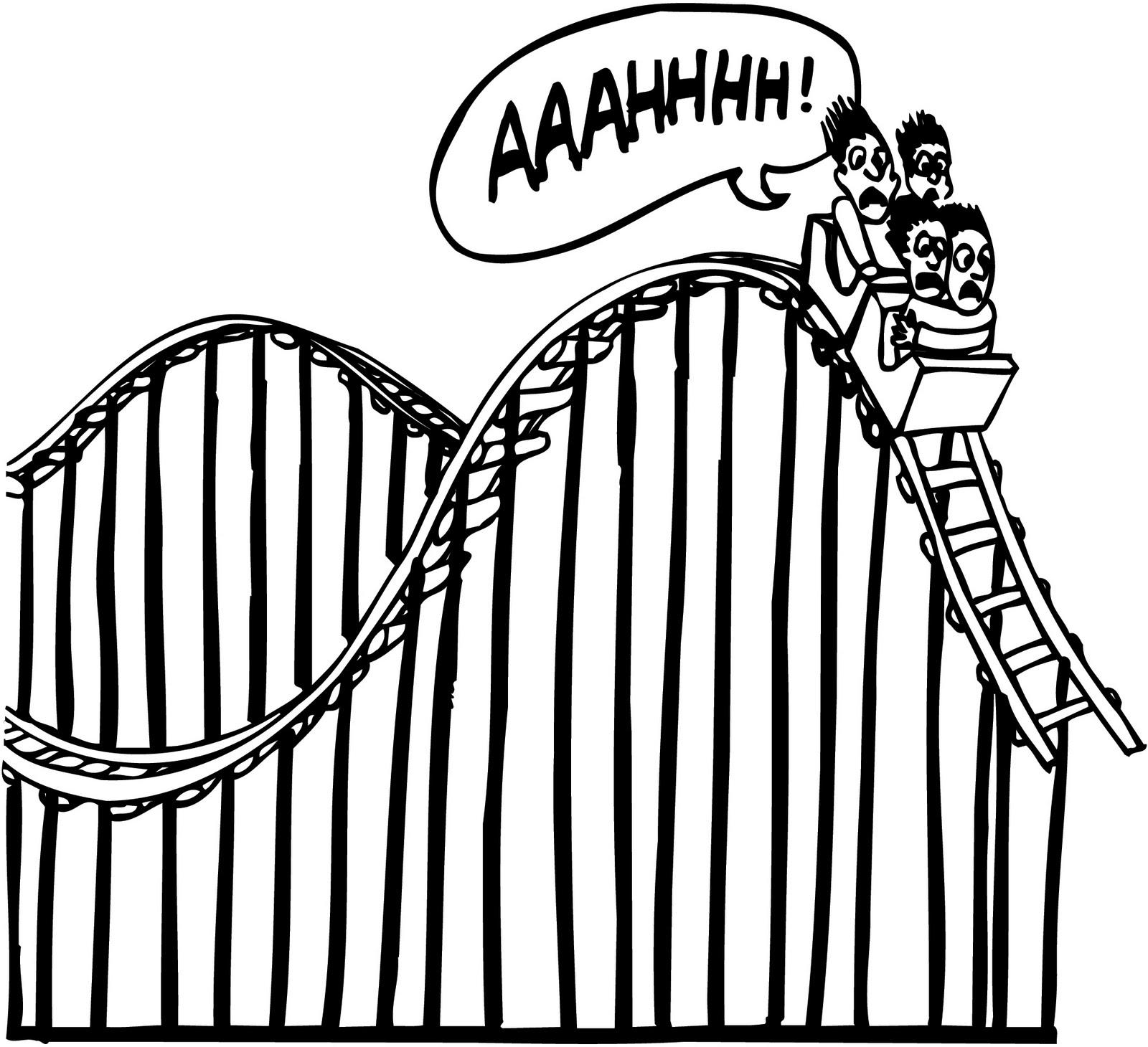 Simple Roller Coaster Drawing At Getdrawings