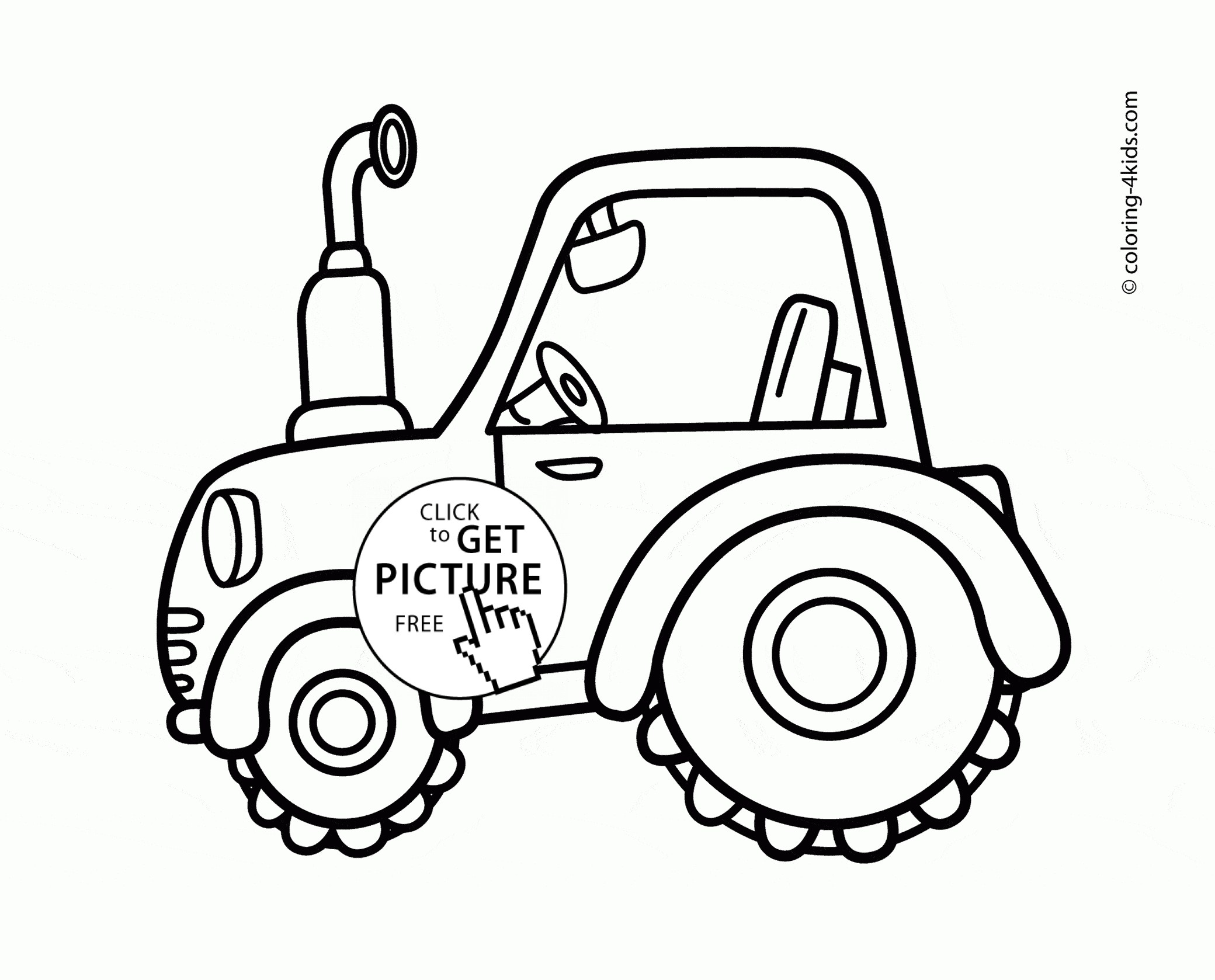 Simple Tractor Drawing At Getdrawings