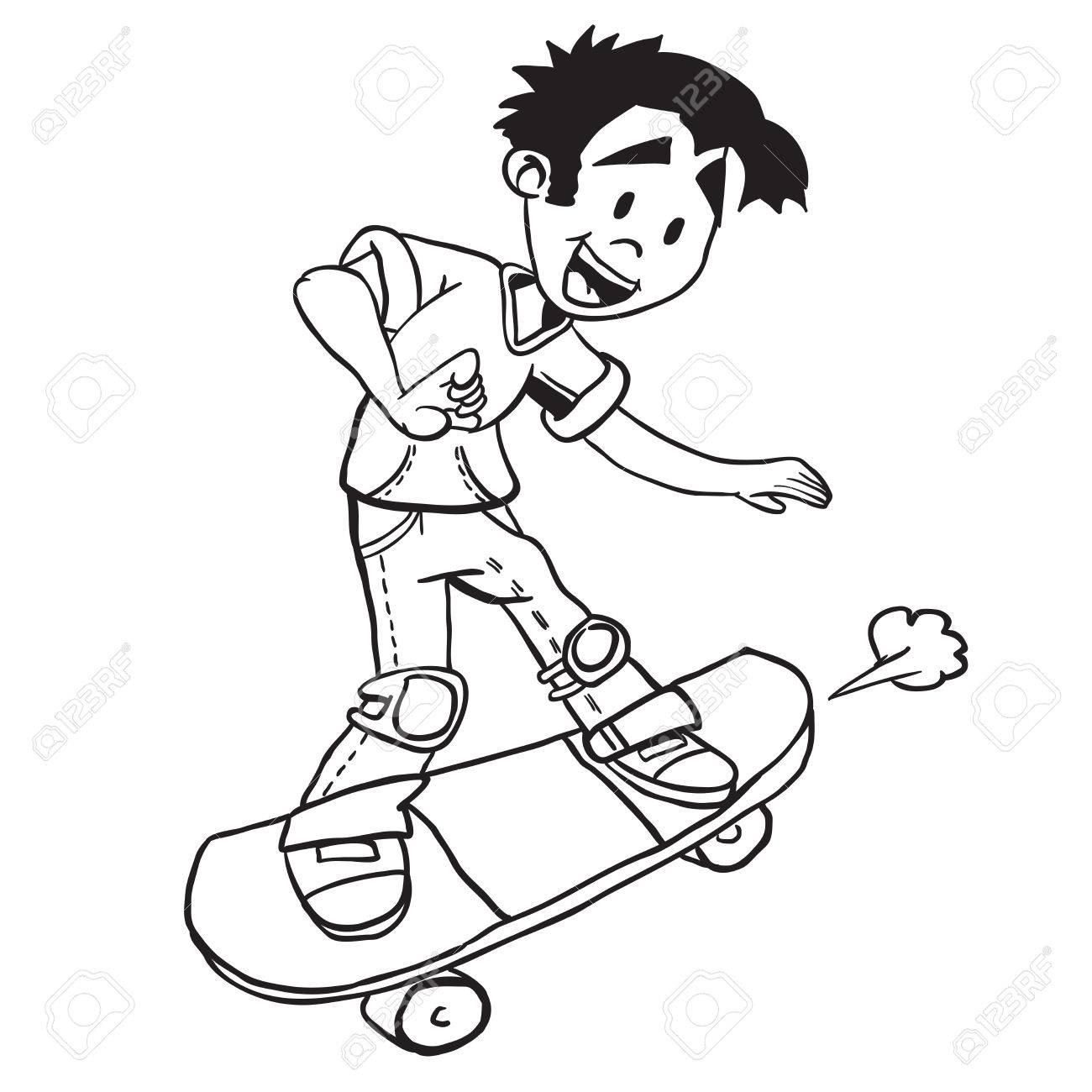 Skater Boy Drawing At Getdrawings