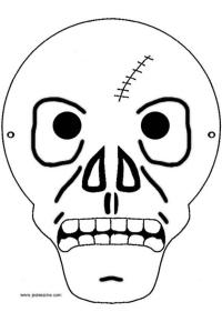 scary halloween mask drawing