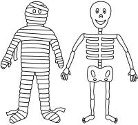 halloween skeleton drawing