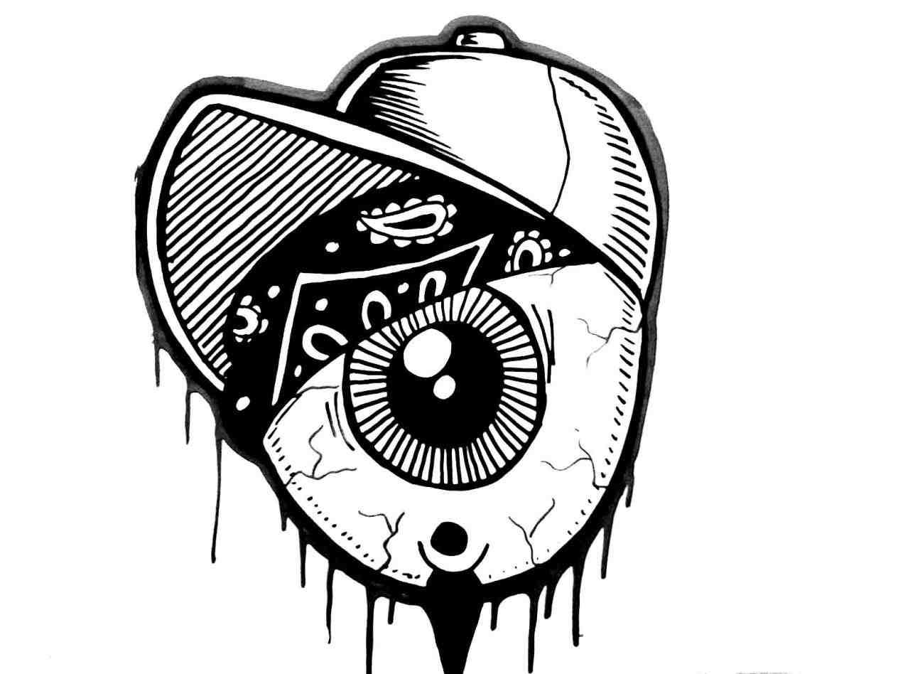 Skull Bandana Drawing At Getdrawings