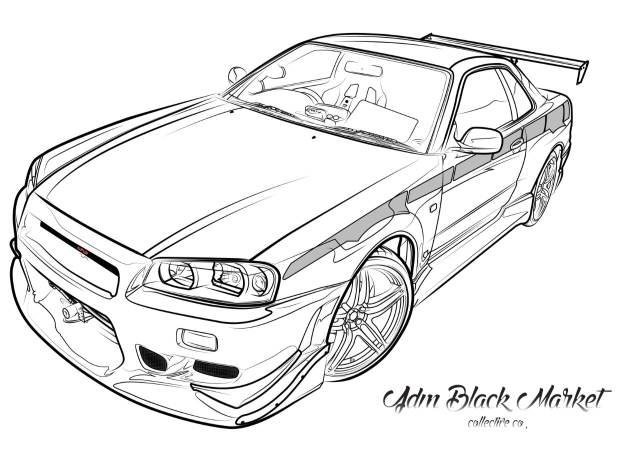 Skyline R34 Gtr Unitshirt I Like Car Drifting T Cars