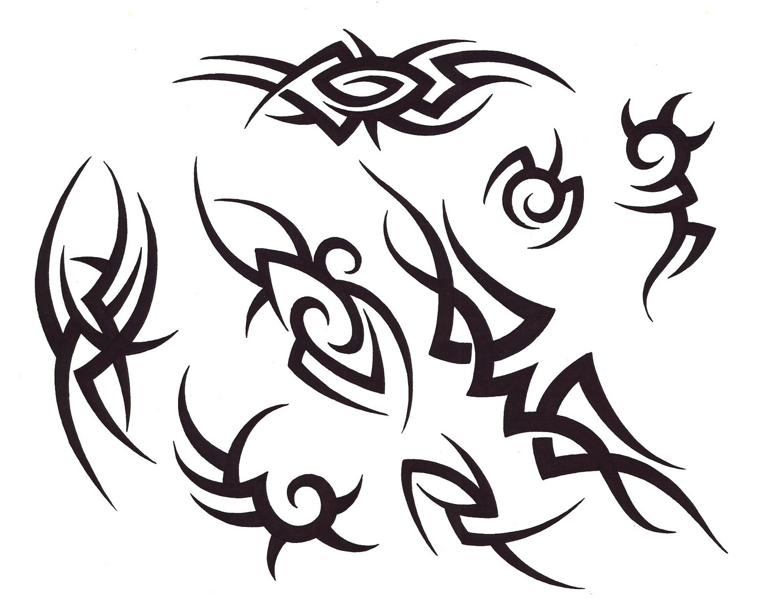 Blank Sleeve Tattoo Template