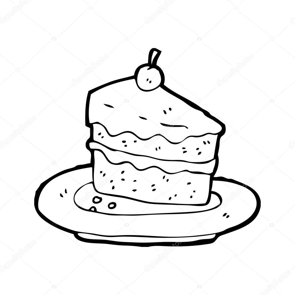 Slice Cake Drawing At Getdrawings