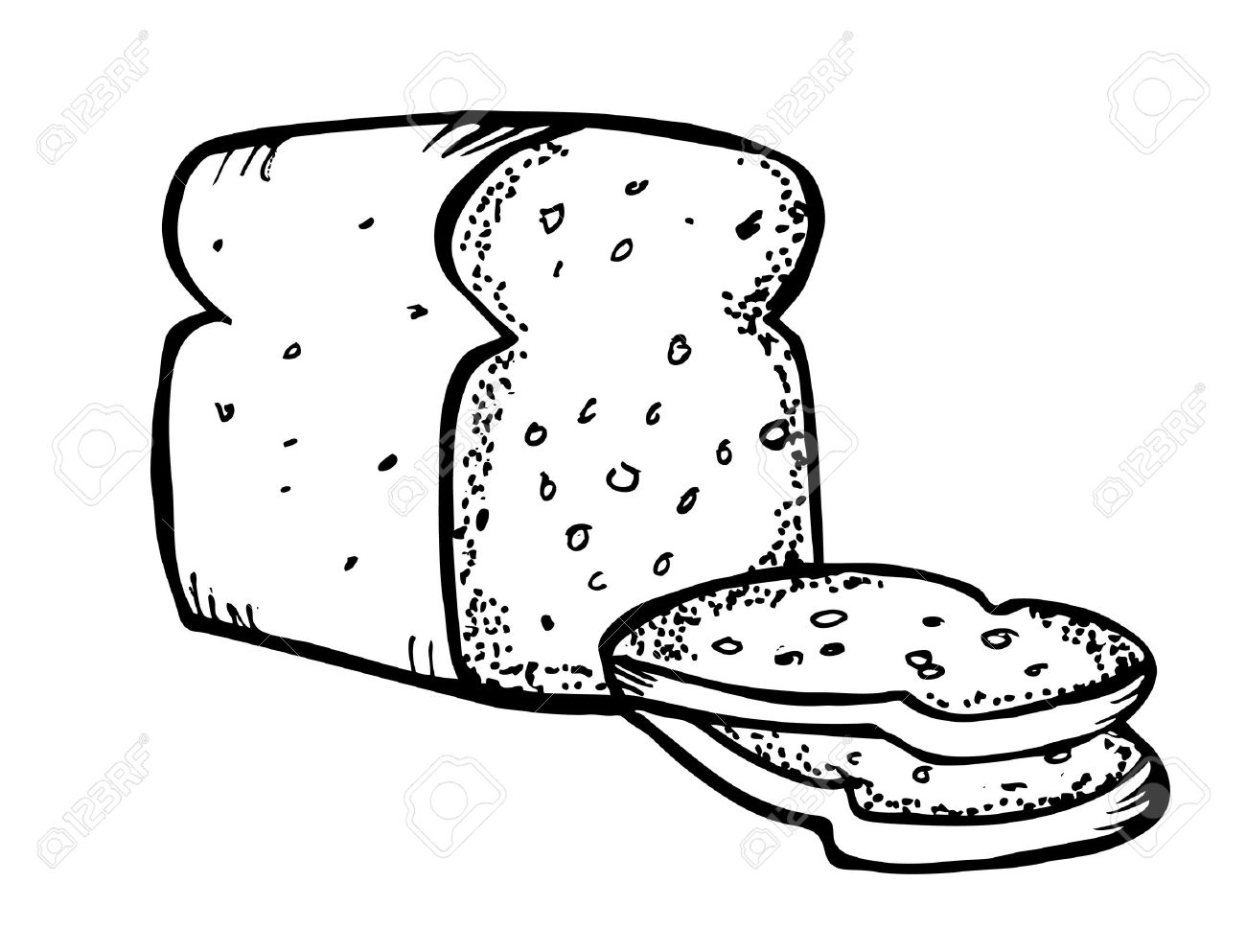Slice Of Bread Drawing At Getdrawings
