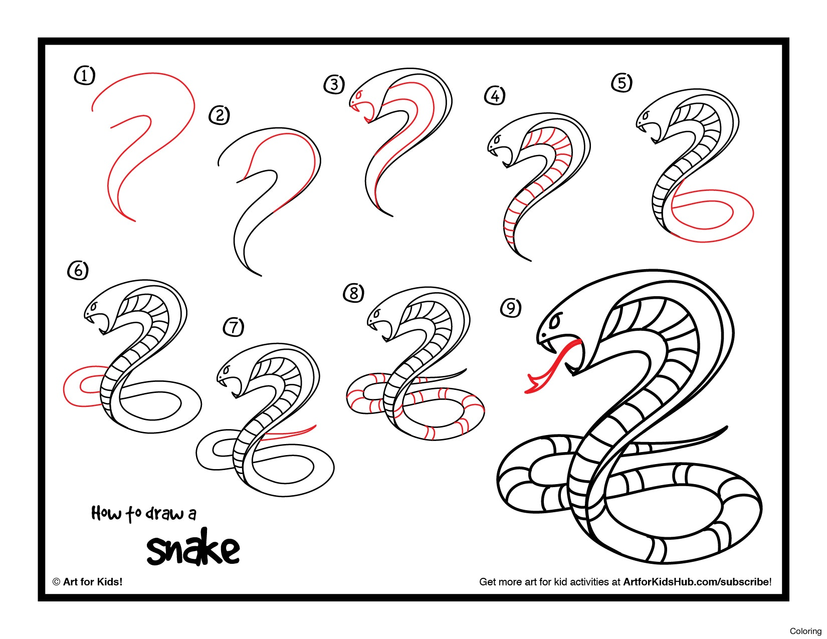 Snake 3d Drawing At Getdrawings
