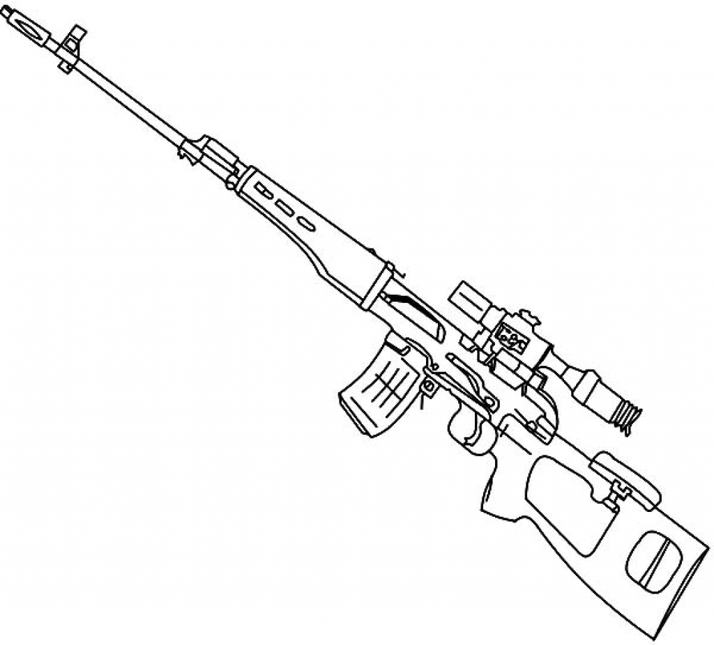 Fortnite Sniper Coloring Sheet