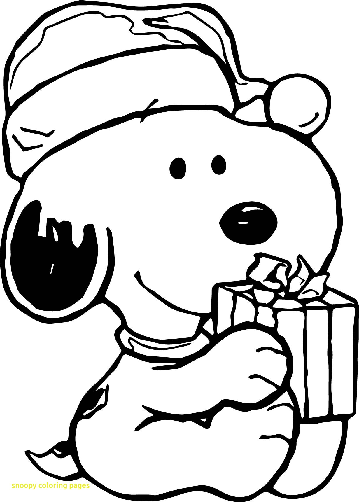 Snoopy Christmas Drawing At Getdrawings