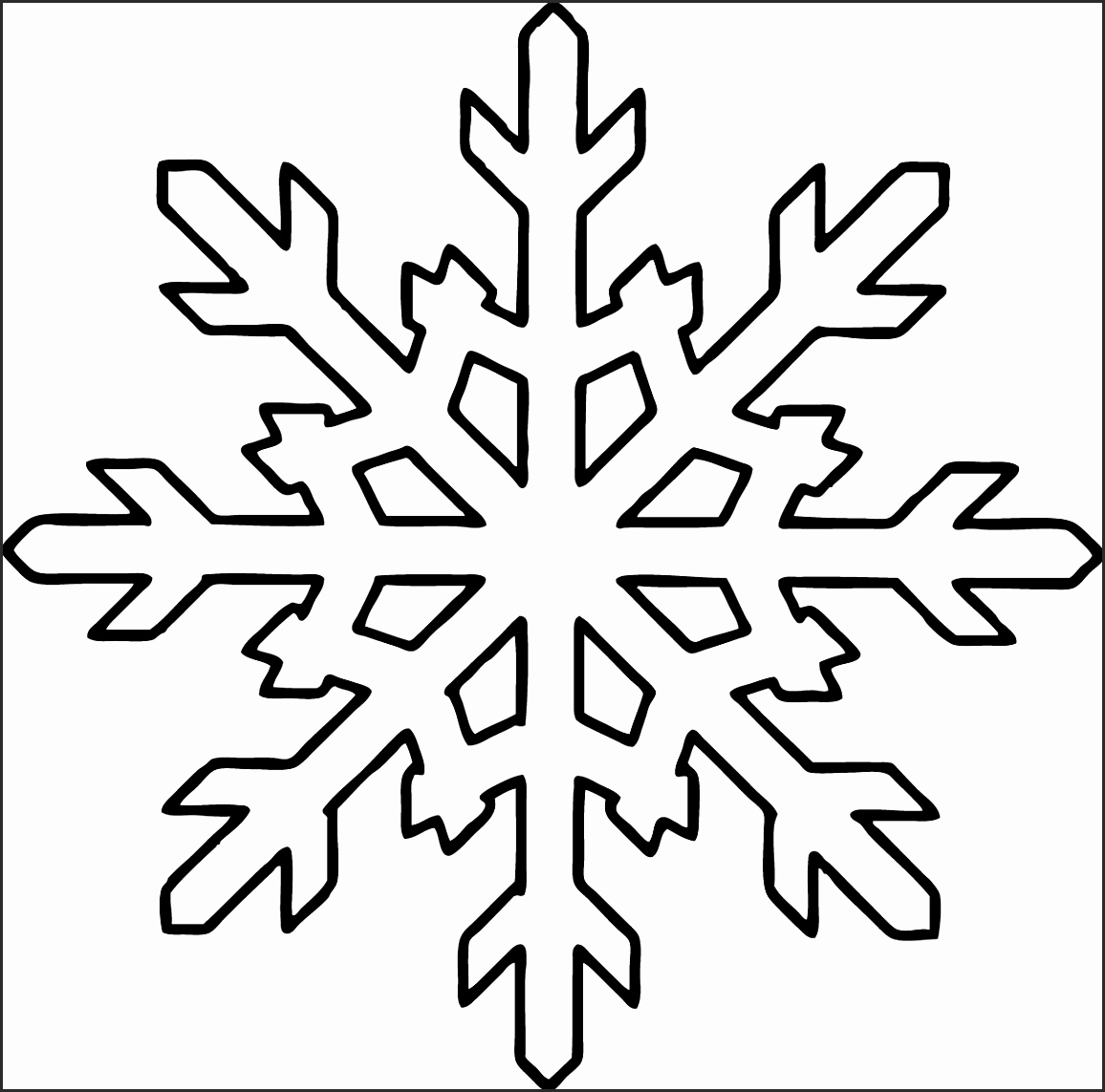 Snowflake Easy Drawing At Getdrawings