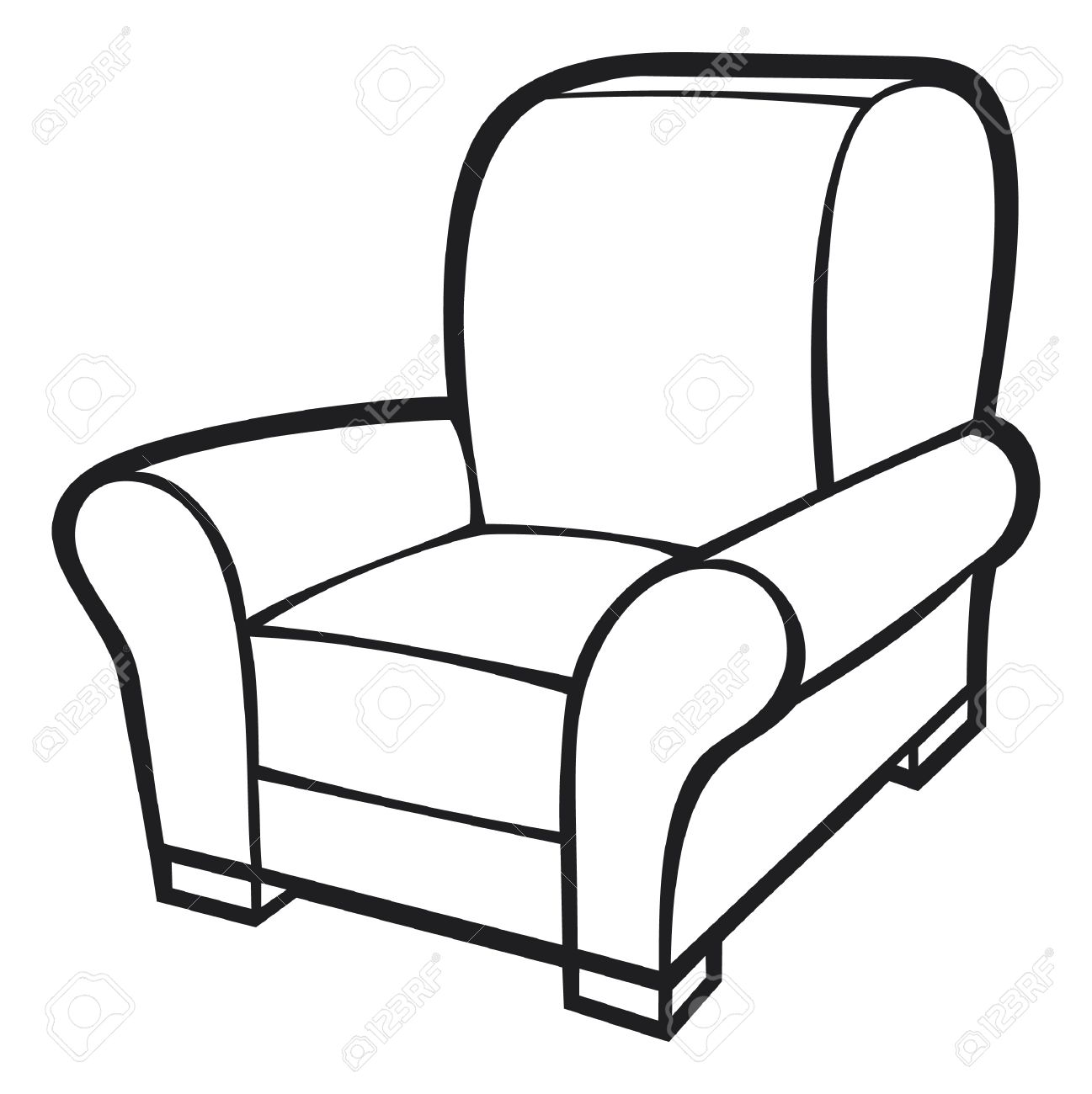 Sofa Chair Drawing At Getdrawings