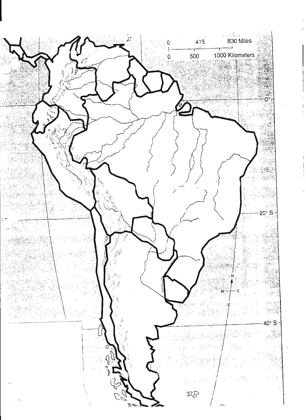 South America Map Drawing At Getdrawings