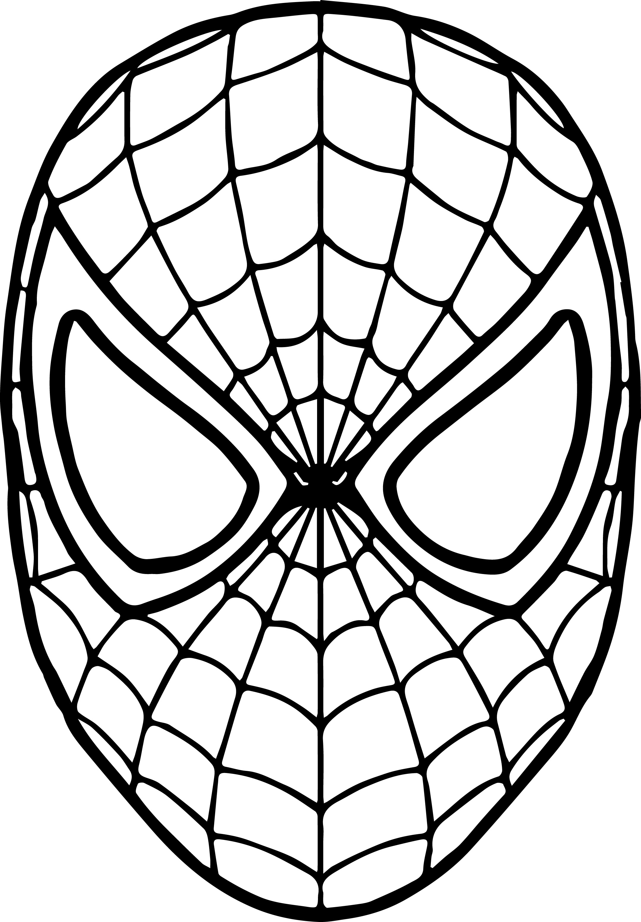 Spiderman Mask Drawing At Getdrawings