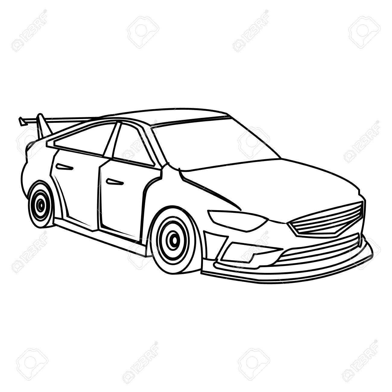 Sports car drawing outline at getdrawings free for personal