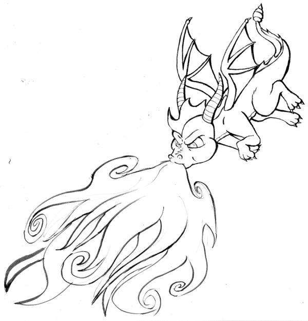 spyro drawing at getdrawings  free download