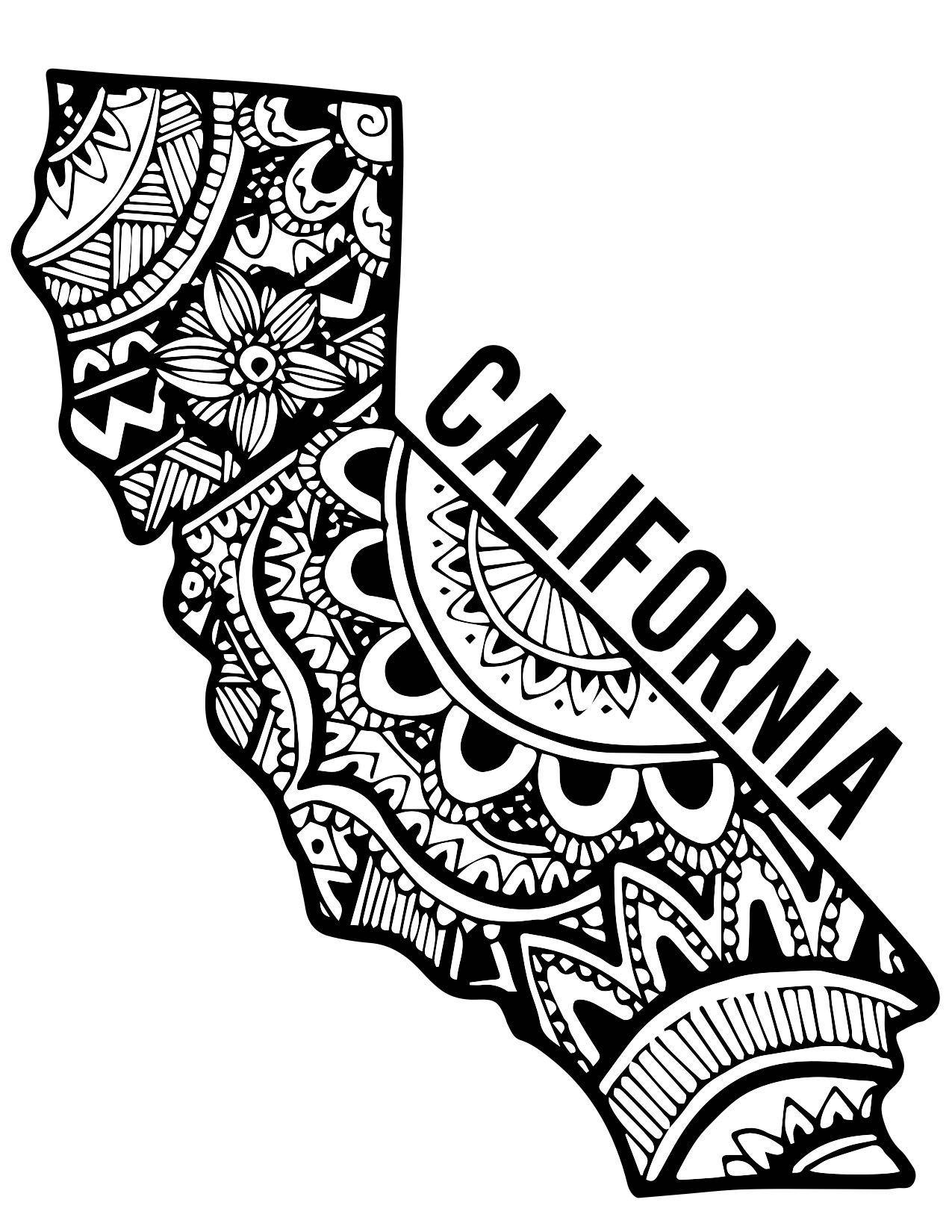 State Of California Drawing At Getdrawings
