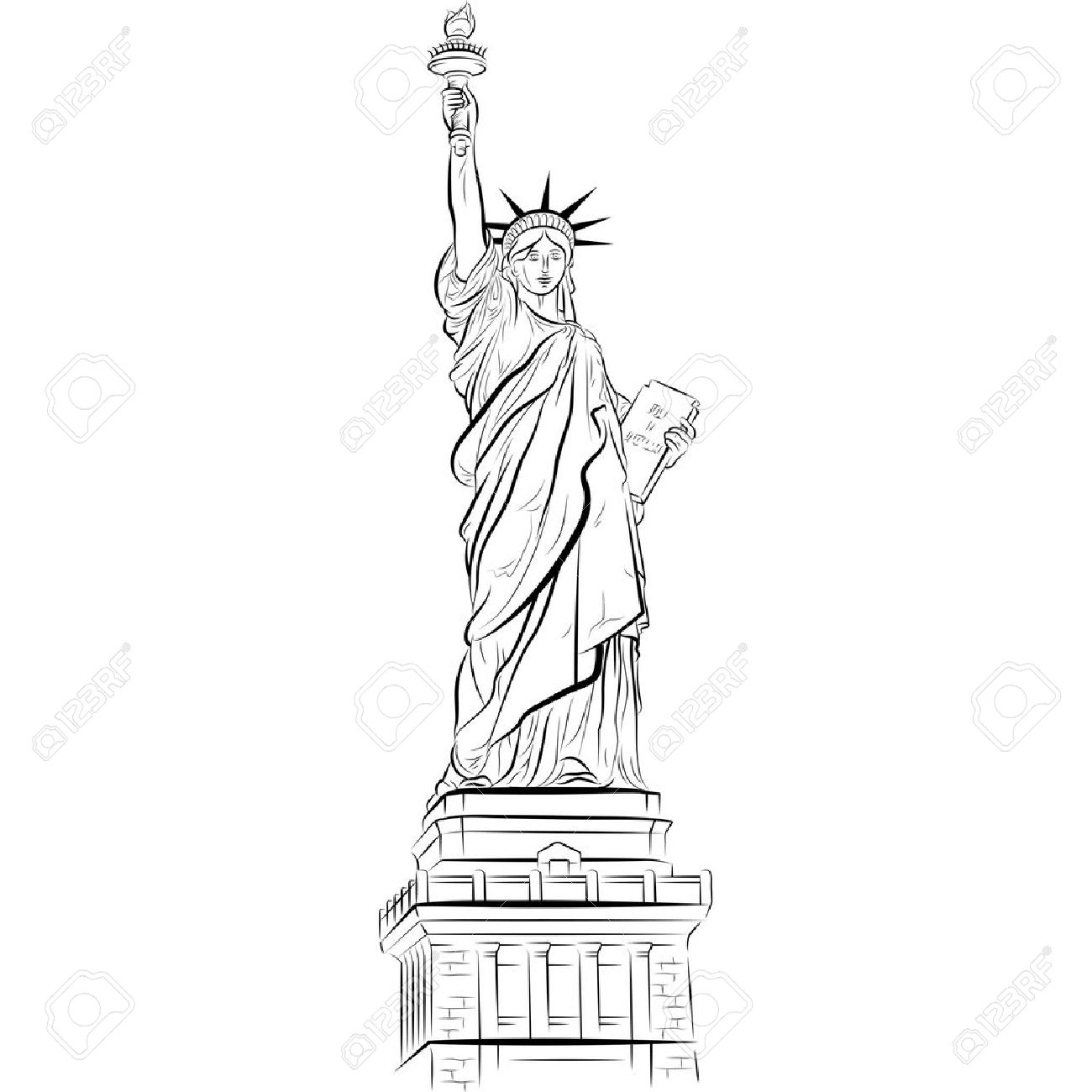 Statue Of Liberty Directed Drawing At Getdrawings