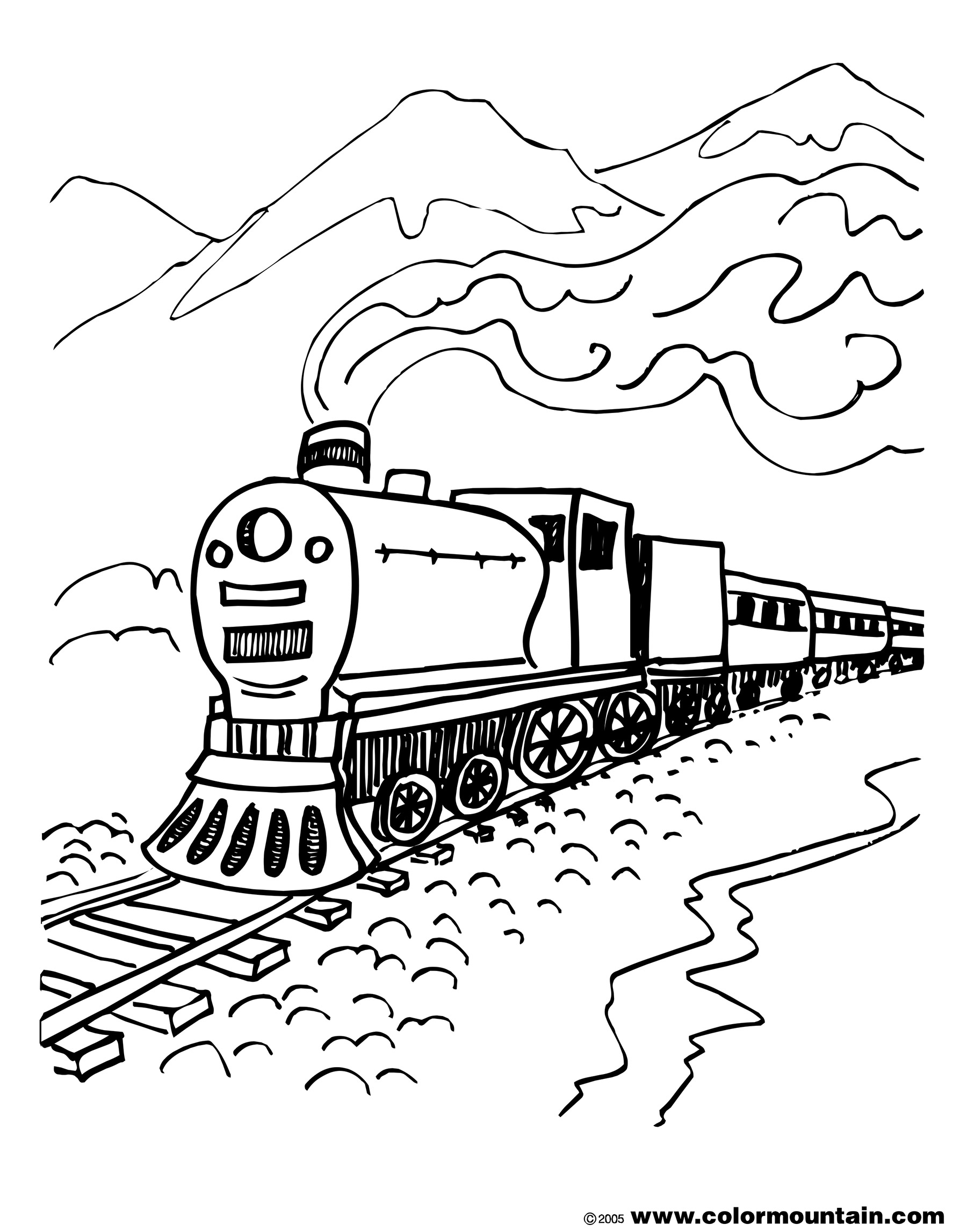 Steam Locomotive Drawing At Getdrawings